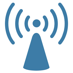 Image of a wifi symbol.