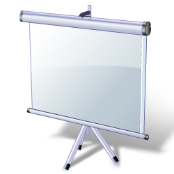 Image of video projection screen.