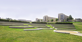 Image of an outdoor ampitheater in the day.