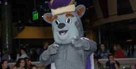 Image of a JMU Duke Dog, or a mascot in a dog suit.