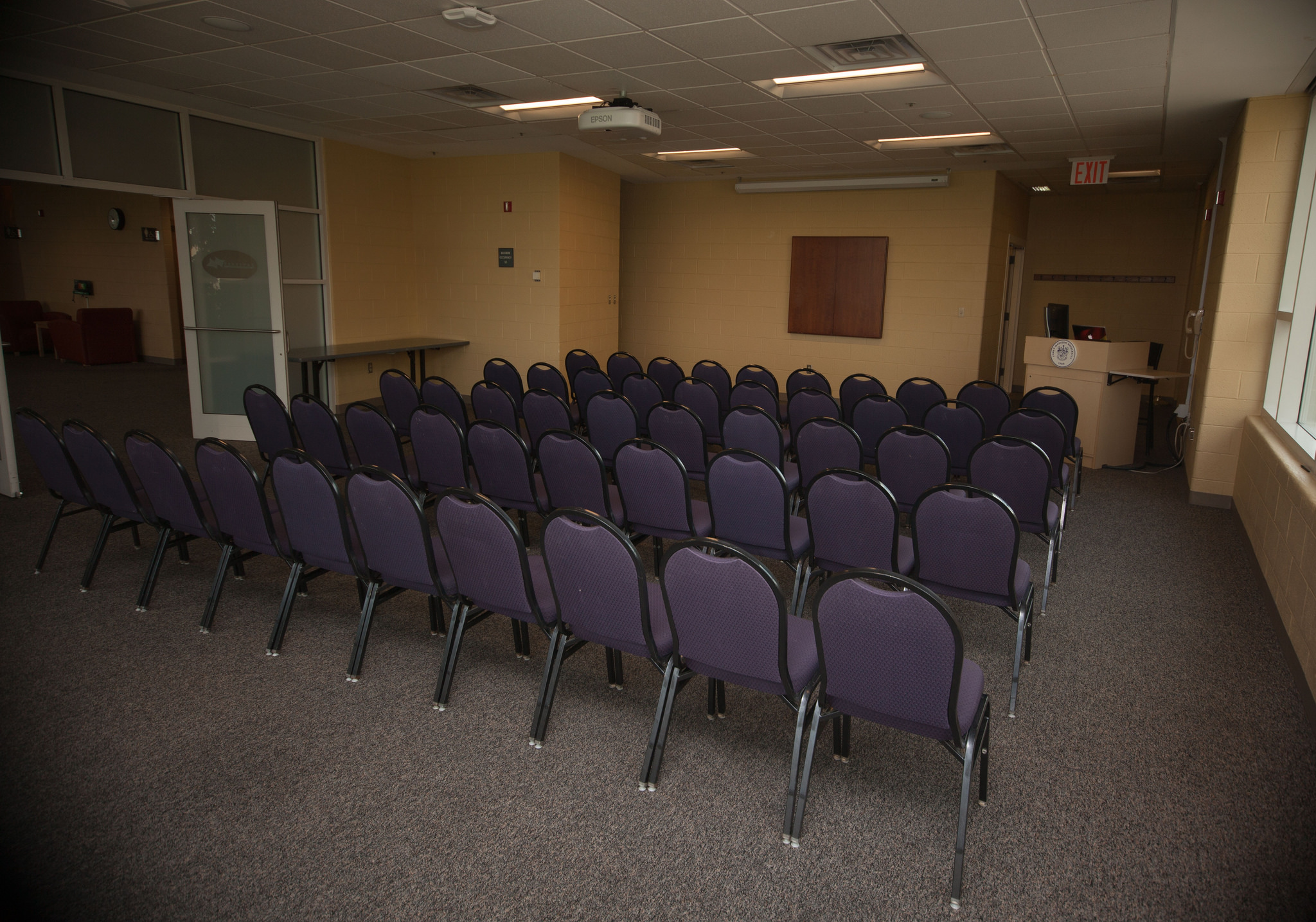 Photo of the Allegheny Room in theater setup.