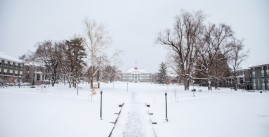 JMU quad covered in snow
