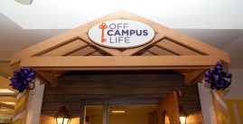 Image of the entrance to the off campus life office