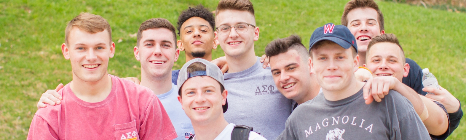 Fraternity students at Egg Hunt on the Row 2018