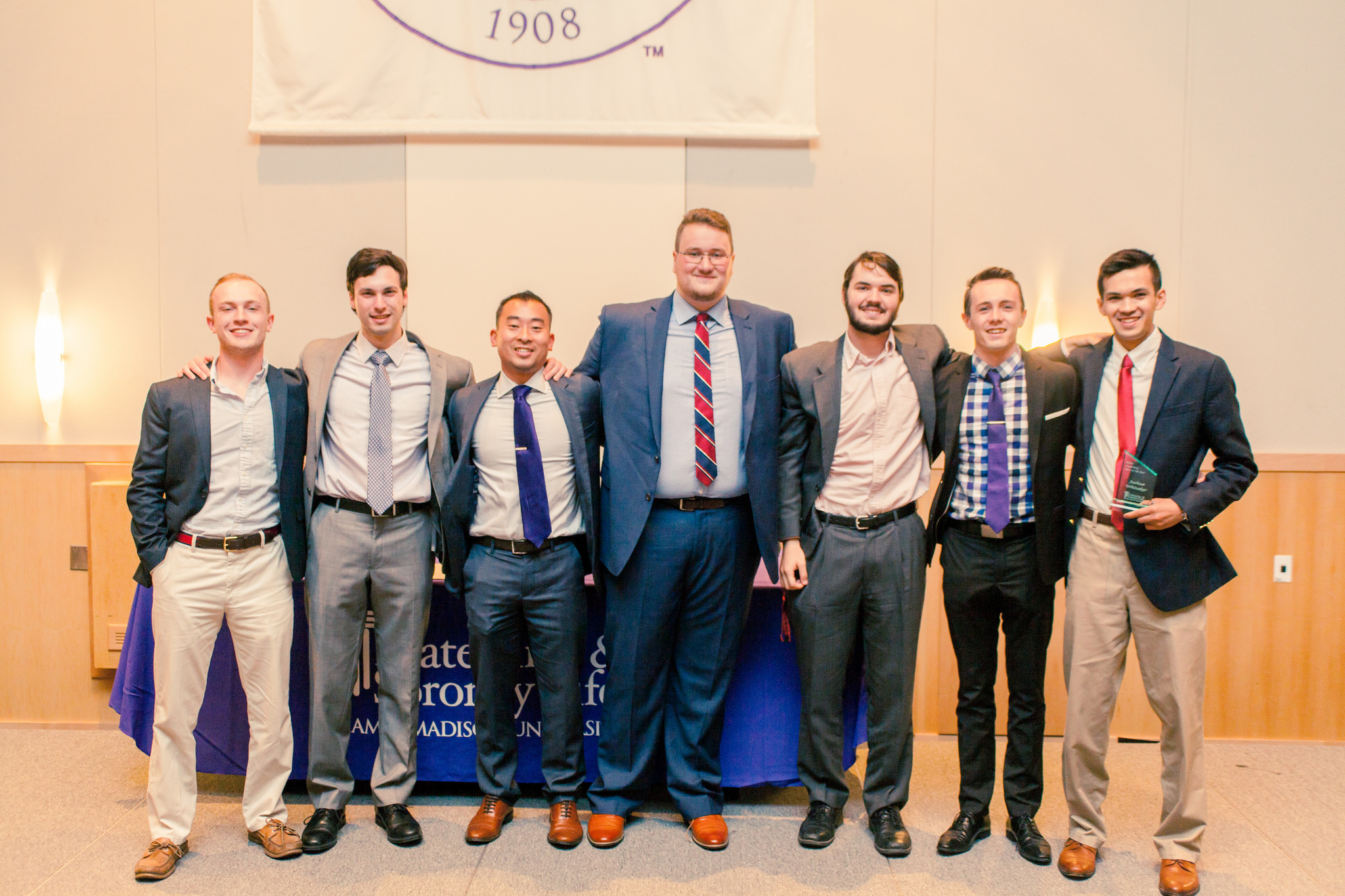 Delta Tau Delta members at Excellence Awards 2016.