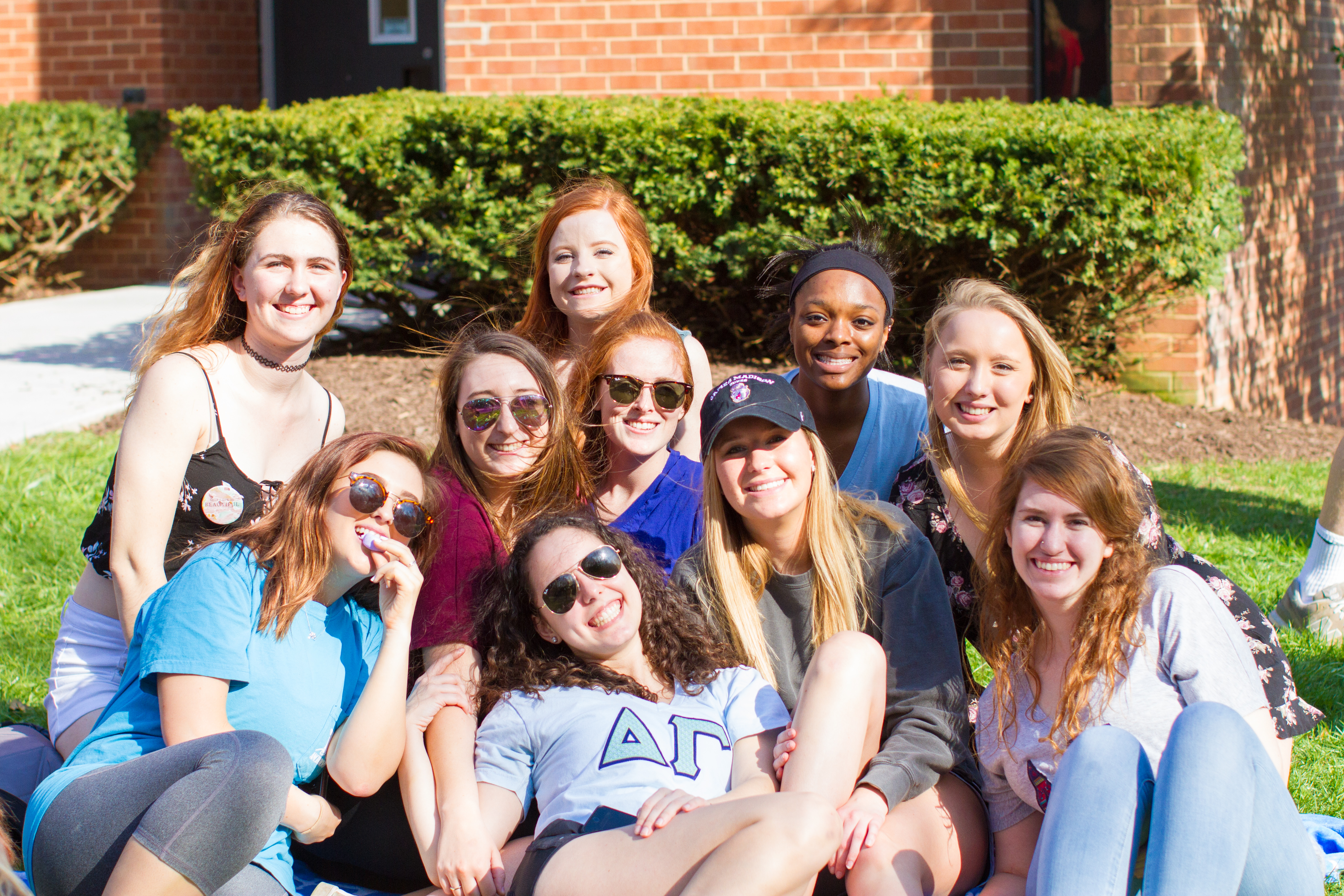 Delta Gamma members at Egg Hunt on the Row 2018