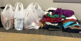 Image of the Student Activities Food and Clothing drive located in their Madison Union Office