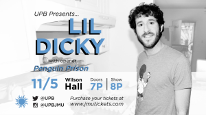 Image of a Lil Dicky Concert advertisement.