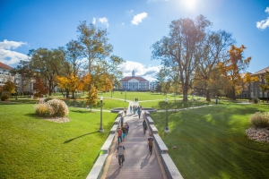 Photos of the JMU Quad taken in fall 2016