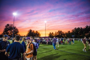 Sunset photos from Student Org Night Fall 2016.