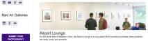 Image of a screenshot of the Madison Union Art Galleries webpage showing the three gallery spaces.