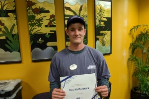 Ben McCormick – Student Employee of the Month
