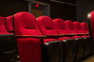 Image of a row of red chairs from Grafton Theater.