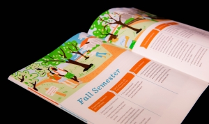 Image of the Fall Semester timeline in the Off Campus Life Guidebook