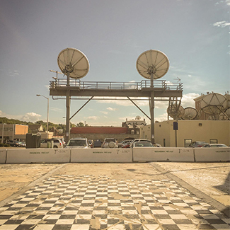 Image of satellite dishes