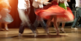 Image of a flurry of salsa dancing