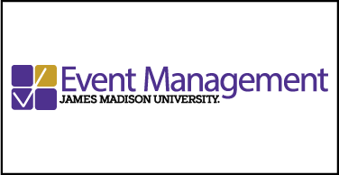 Event management logo with border