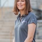 photo of marissa ritter sitting in a grey upb polo