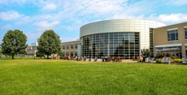 Image of the exterior of Festival Student Center on a sunny day