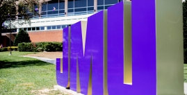 Image of the JMU Letters outside of Madison Union