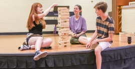Image of people playing Jenga